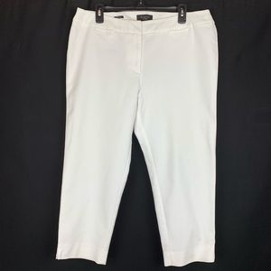 Talbots Cotton Woman Petite White Capris Size 16WP